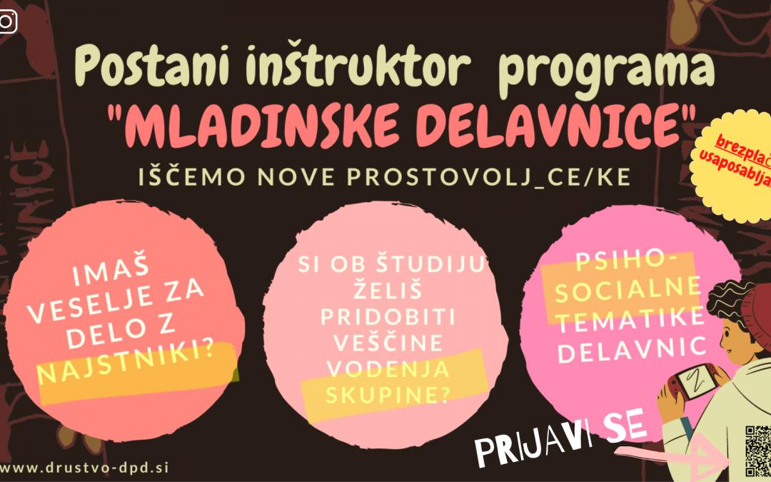 Informativni sestanek za nove prostovoljce v Ljubljani v šol. letu 2021/22